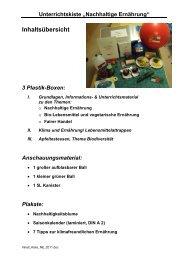 Nachhaltige Ernährung - DLR Eifel