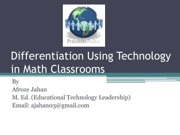 Technology in Math Classroom - TCEA