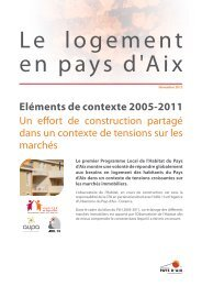 Le logement en pays d'Aix - Etats généraux du logement de MPM