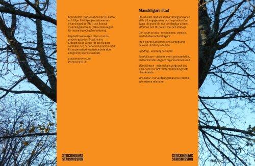 Mänskligare stad - Stockholms Stadsmission