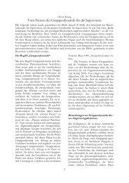 Vom Nutzen der Gruppendynamik für die Supervision - Deutsche ...
