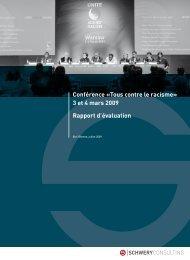 Conférence «Tous contre le racisme - SCHWERY CONSULTING