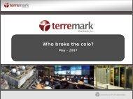 Who broke the colo? Who broke the colo? - RIPE 64