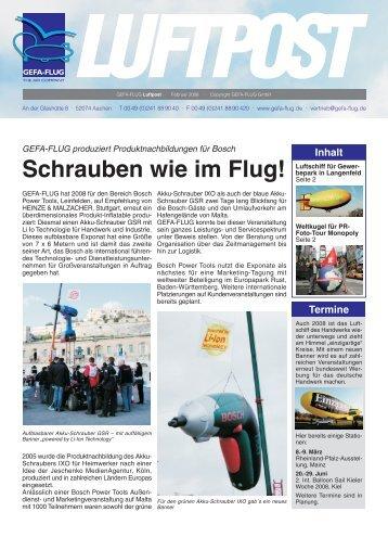 Luftpost der GEFA-FLUG GmbH - Ausgabe Februar 2008.FH11