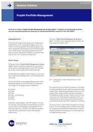 Projekt-Portfolio-Management Business Solution - Lösungen mit SAP