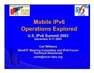 Mobile IPv6 Operations Explored - IPv6 Summit, Inc.