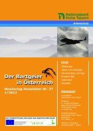 Bartgeier Newsletter Nr. 37 1/2013