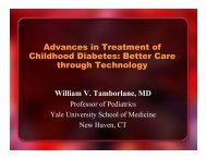 Advances in Treatment of Childhood Diabetes: Better Care through ...