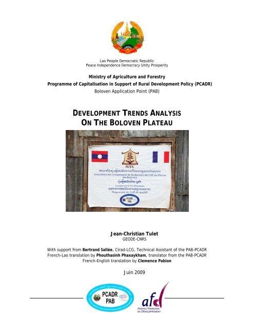 Development Trends Analysis On The Boloven Plateau Lad Nafri