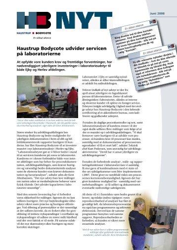 Haustrup Bodycote udvider servicen på laboratorierne - Dansk