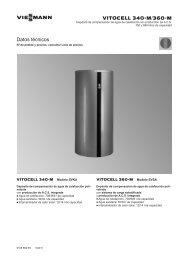 Datos técnicos Vitocell 340-M y 360-M1.6 MB - Viessmann