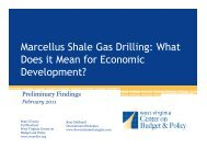 Marcellus Shale Gas Drilling - West Virginia Center on Budget & Policy