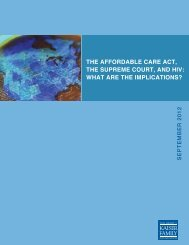 THE AFFORDABLE CARE ACT, THE SUPREME COURT, AND HIV ...