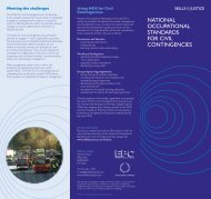 national occupational standards for civil contingencies