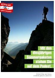 Übersicht der Beteiligungspakete - Saalbach Hinterglemm