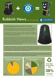 Rubbish News...November 2008 38% - Castlereagh Borough Council