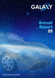 Annual Report 09 - Galaxy Resources