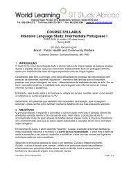 COURSE SYLLABUS Intensive Language Study: Intermediate ...