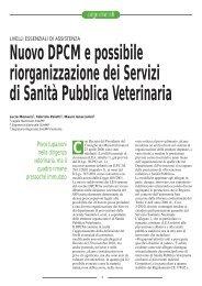 Nuovo DPCM e possibile riorganizzazione dei Servizi di ... - SIVeMP