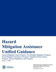 Unified Guidance - Hazard Mitigation Web Portal
