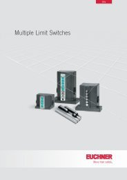 Multiple Limit Switches - EUCHNER GmbH + Co. KG