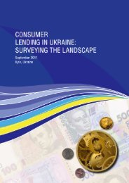 Consumer Lending in Ukraine: Surveying the Landscape - FINREP