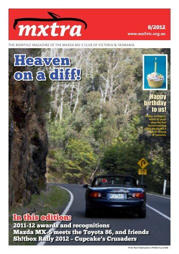 August - Mazda MX-5 Club of Victoria & Tasmania