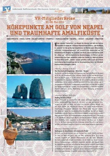Prospekt zur Reise an den Golf von Neapel - Volksbank ...