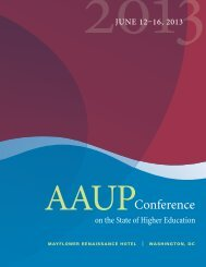 the schedule - American Association of University Professors