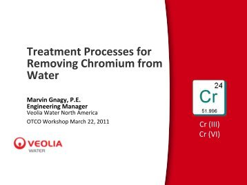 The Treatment Processes for Removing Chromium ... - Ohiowater.org