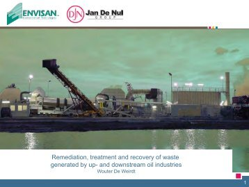 Remediation, treatment and recovery of waste ... - Petroleumclub.ro