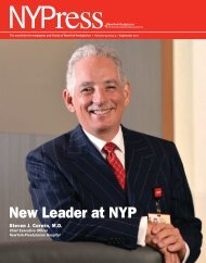 New Leader at NYP - New York Presbyterian Hospital
