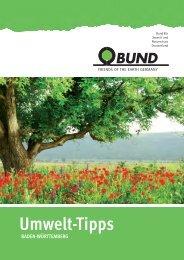 BUND Umwelt-Tipps Tübingen/Reutlingen 2014