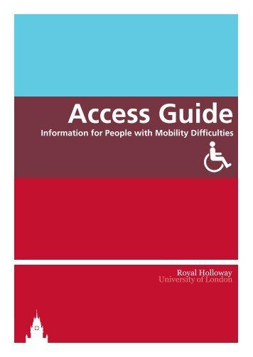 Campus Access Guide - Royal Holloway, University of London