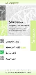 PIR U LIN A SPIRULINA - MSE Pharmazeutika GmbH