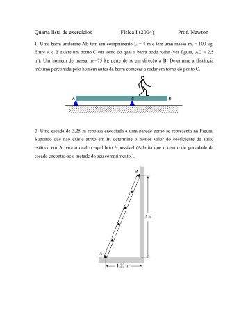 4ª lista de Física I - UNESP