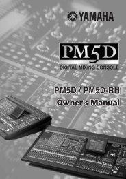 Yamaha - PM5D Digital Mixing Console - Synergy Audio