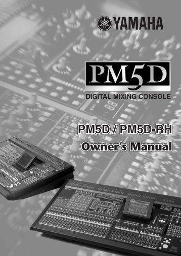 Yamaha - PM5D Digital Mixing Console - Synergy Audio