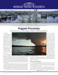 fall 2011 newsletter - Friends of the Boundary Waters Wilderness