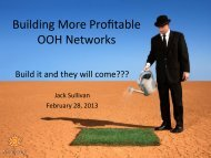 Building More Profitable OOH Networks - Lyle Bunn