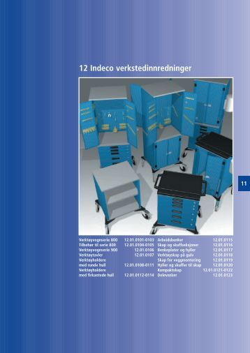 Indeco verkstedsinnredning side 12.01.0101