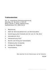 GV 2013 Traktanden (pdf) - Alzheimervereinigung Kanton Zürich