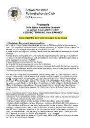 Protocole CSR gv2007 - Schweizerischer Rottweilerhunde Club