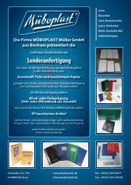 Sonderanfertigung - MÜBOPLAST Müller GmbH