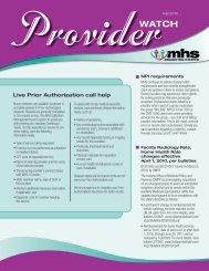 Live Prior authorization call help - MHS Indiana