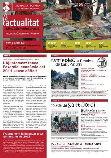 Abril [Núm. 3 - pdf 1,16 Mb] - Ajuntament de Santa Coloma de Cervelló