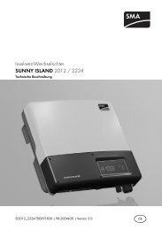 SUNNY ISLAND 2012 / 2224 - SMA Solar Technology AG