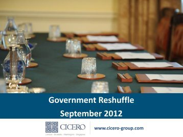 Government Reshuffle September 2012 - Cicero Group