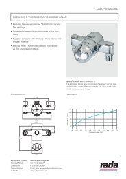 Rada 320 C TheRmosTaTiC mixing vaLve