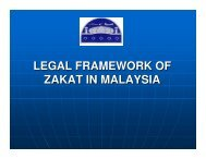 LEGAL FRAMEWORK OF ZAKAT IN MALAYSIA